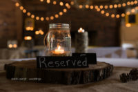 wedding reception lights mason jar candle Cleveland Athens TN photographer