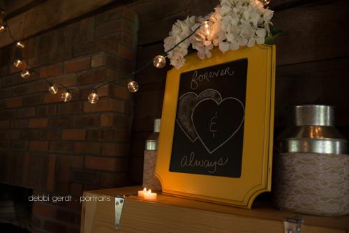 wedding photographer yellow reception hydrangeas Cleveland Athens Tennessee